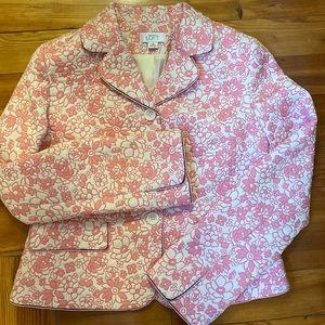 Anne Taylor LOFT Pink/White Blazer/Jacket